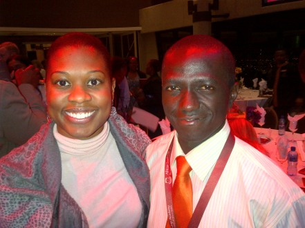 Andrew Mupuya, winner of the 2012 Anzisha Prize and me